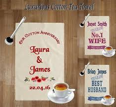 wedding anniversary tea towel gift idea