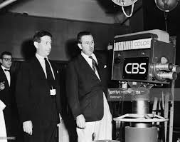 Walt Disney is shown here with Adrian Murphy, CBS Vice President ...