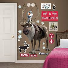 Fathead Frozen Sven And Olaf Giant Wall Decal