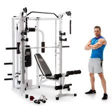 Marcy 5276 Combo Smith Heavy-Duty Total Body Strength Home Gym Machine,  White - Walmart.com - Walmart.com