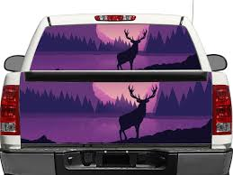 Deer Moose Graphics Rear Window Or Tailgate Decal Sticker Pick Up Truck Suv Car