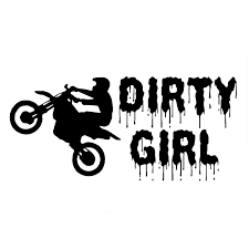 19 1cm 8 9cm Dirty Girl Dirt Bike Decal Rider Car Stickers And Decals Motorcycle Car Styling Accessories Black Sliver C8 0666 Sticker Tablet Sticker Iphonesticker Carbon Aliexpress