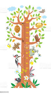 Fairy Tree With Animals Meter Wall Or Height Chart Stock Illustration Download Image Now Istock