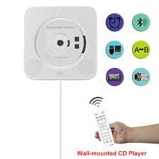 cd player wall mounted bluetooth audio