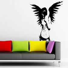 New Gothic Dark Fallen Angel Of Death Vinyl Wall Stickers Living Independence