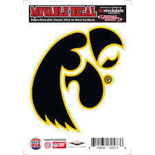 Iowa Hawkeyes Repositionable Vinyl Decal Walmart Com Walmart Com