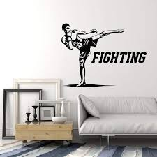 Vinyl Wall Decal Fighting Mma Fighter Martial Arts Fight Club Decor St Wallstickers4you