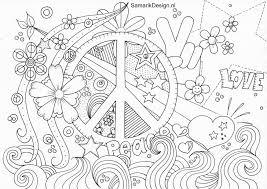 Kleurplaat Voor Volwassenen Peace Love Coloring Pages Coloring