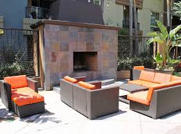 fireplace at amli warner center