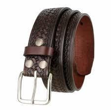 basketweave work uniform leather belt