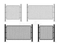 Realistic Detailed 3d And Silhouette Black Metal Fence Wire Mesh Vector Stock Vector Illustration Of Grid Design 158636623