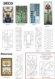 art deco nouveau stained glass windows