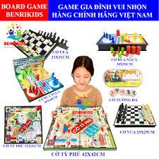 Board Game Vui Nhộn Cho Bé ⚡SIÊU SALE]⚡Cờ Tỷ Phú-Cờ Cá Ngựa-Cờ Vua Hàng  Hàng Sato Việt Nam An Toàn Cho Bé