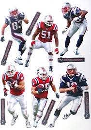 Amazon Com New England Patriots Fathead Nfl Team Set Brady Welker Woodhead Mayo Gronkowski Mccourty Wall Decor Stickers Sports Outdoors