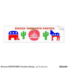 Arizona Redfored Teachers Bumper Stickers Bumper Stickers Bumpers Custom Stickers