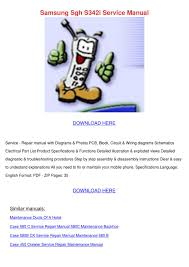 Samsung Sgh S342i Service Manual by ...