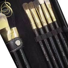 mac cosmetic brush set barrel travel