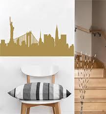 Amazon Com New York Skyline City Wall Decal Gold Metallic Home Kitchen