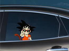 Young Goku Peace Peeking Bomex Graphics