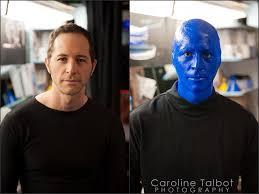 blue man group makeup application