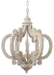 cottage chic crown wood chandelier 6