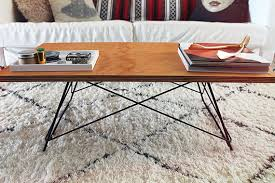 diy metal base coffee table almost