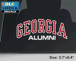 Uga Arched Georgia Over Alumni Decal