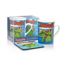 nessie mug coaster set loch ness
