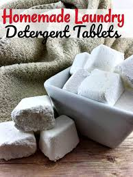 homemade laundry detergent tablets