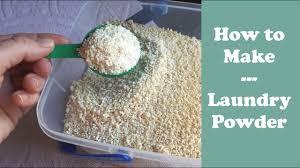 laundry powder with handmade soap base