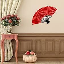 Vinyl Wall Decal Chinese Oriental Hand Fan Design Decoration Asian Cultural Decor Customvinyldecor Com