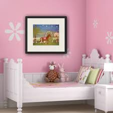 Horse Princess Kids Art Print Of Royal Castle Painting Girls Room Kid Wall Art Prints For
