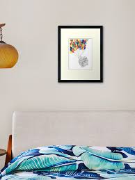 Adventure Is Out There Up House With Balloons Framed Art Print By Rqstine Redbubble