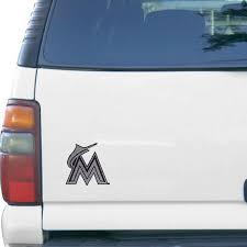 Miami Marlins Bling Emblem Car Decal