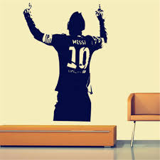 Football Star Lionel Messi Figure Wall Sticker Vinyl Diy Kids Living Room Wall Sticker Decals Buy At A Low Prices On Joom E Commerce Platform