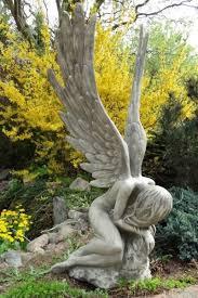 sculpture stone angel serafina large
