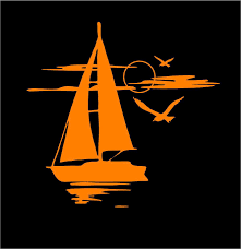 Sail Boat Decal Sunset Sailing Custom Vinyl Car Truck Window Sticker In 2020 Custom Vinyl Custom Vinyl Decal Truck Window Stickers