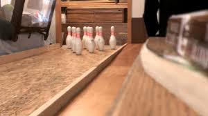 homemade bowling alley you