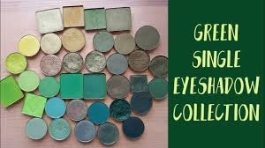 green single eyeshadows collection