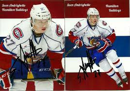 Hell's Valuable Collectibles: Sven Andrighetto: 8 Autographed Items