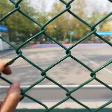 China 8 Foot Pvc Coated Chain Link Fence For Playground Fence China Chain Link Fence Diamond Mesh Fence