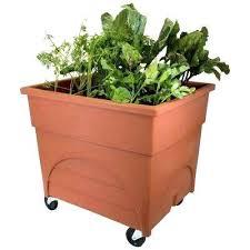 self watering raised bed planter