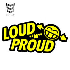 2020 Wholesale Car Styling Loud N Proud Sticker Decal Vinyl Bass Stereo Audio Subwoofer Dub Jdm Noisy Rs Car Sticker 13cm X 6 5cm From Wzl001 18 1 Dhgate Com