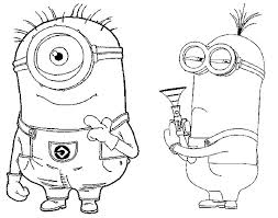 Kleurplaten Minions Morning Kids