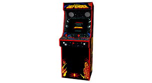 defender retro upright arcade machine