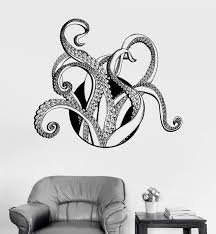 Vinyl Wall Decal Tentacles Octopus Kraken Nautical Marine Decor Sea St Wallstickers4you