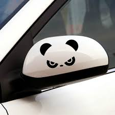 2pcs Auto Rearview Mirror Window Cover Panda Eyes Funny Vinyl Car Stickers And Decals Car Decor Accessories Vinyl Car Stickers Car Stickers Funny Car Stickers