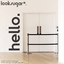 Hello Wall Decal Removable Wall Sticker Quote Wall Decal Etsy
