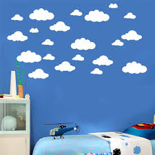 31pcs Set Diy Large Clouds Wall Decals Pvc Home Decoration Art White Color Decal Stickers Clouds For Kids Children Room Decor Sticker Mercedes Sticker Iphonesticker Waterproof Aliexpress