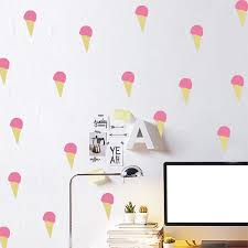 Summer Ice Cream Vinyl Wall Decals Removable Cute Diy Wall Stickers For Baby Girls Pink Room Decoration Wall Sticker Stickers Forwall Stickers For Baby Aliexpress